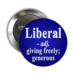 Definition of Liberal (100 pack of Buttons)