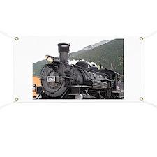 Steam train engine, Silverton, Colorado, US Banner