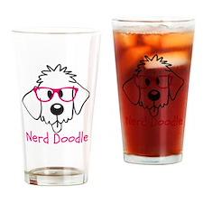 Nerd Doodle Drinking Glass