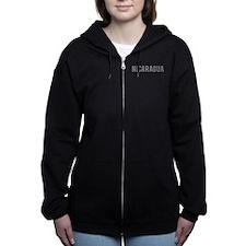 Cute Gray Women's Zip Hoodie