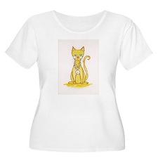 Peace cat Plus Size T-Shirt