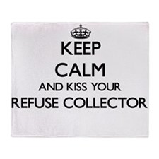 Keep calm and kiss your Refuse Colle Throw Blanket