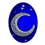 Celtic Moon Oval Ornament