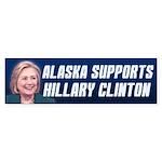 Alaska Supports Hillary Clinton Bumper Sticker