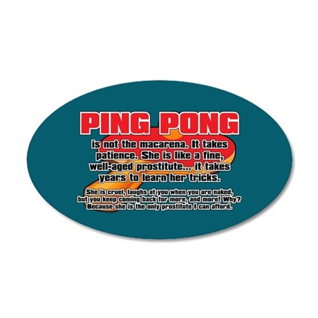 BALLSOFFURY PING-PONG 35x21 Oval Wall Decal