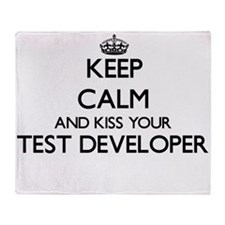 Keep calm and kiss your Test Develop Throw Blanket