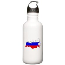 Russian Flag Map Water Bottle