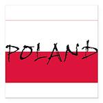 Flag of Poland Square Car Magnet 3