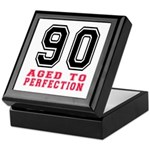 90 Aged To Perfection Birthday Design Keepsake Box