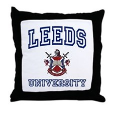 LEEDS University Throw Pillow