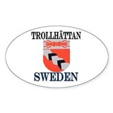 The Trollh&#228;ttan Store Oval Decal