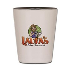 Lauras black Type Shot Glass