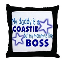 My daddy is a Coastie Throw Pillow