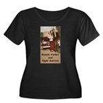 Bonnie and Clyde Women's Plus Size Scoop Neck Dark