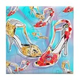 Argentine Tango Tile Coaster - Falling Shoes