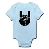 Rock Hand Stencil Infant Bodysuit