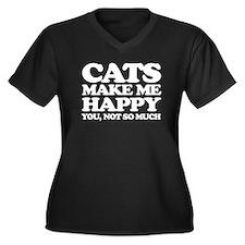 Cats Make Me Happy Plus Size T-Shirt