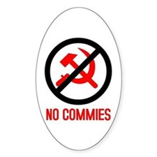 No Commies! Oval Decal
