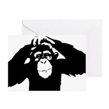 Chimpanzee Icon Greeting Cards (Pk of 10)