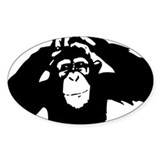 Chimpanzee Icon Oval Decal