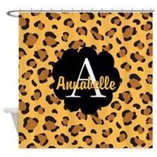 Personalized Name Monogram Gift Shower Curtain