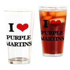 Cute Purple martins Drinking Glass