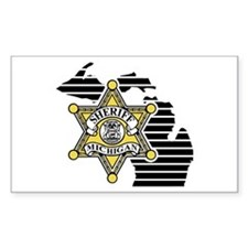Michigan Sheriff Rectangle Decal