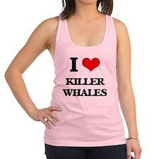 Unique I love killer whales Racerback Tank Top