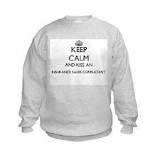 Keep calm and kiss an Insurance Sa Sweatshirt