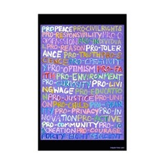 Positive Progressive Words 11x17 Poster