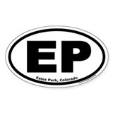 Estes Park, Colorado EP Oval Decal