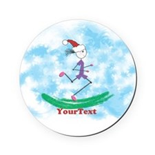 Customize Christmas Lady Runner Cork Cork Coaster