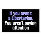 Libertarian Rectangle Decal
