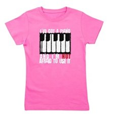 Cute Music Girl's Tee