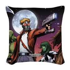 Gotg Star Lord Woven Throw Pillow