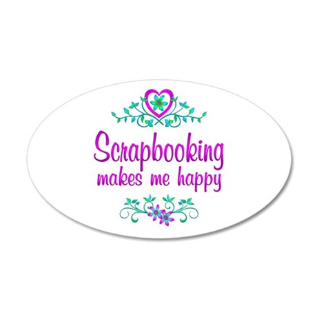 Scrapbooking Happy 20x12 Oval Wall Decal