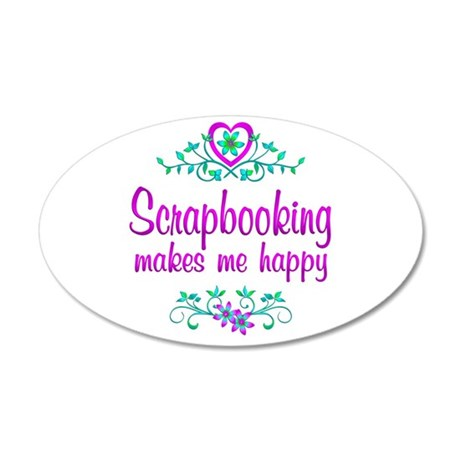 Scrapbooking Happy 35x21 Oval Wall Decal
