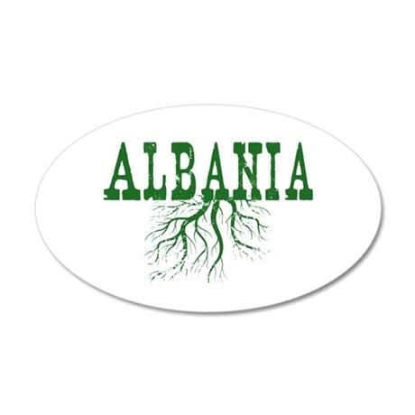 Albania Roots 20x12 Oval Wall Decal