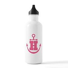 Cute Anchor Monogram H Water Bottle