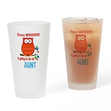 Bold Owl - New Aunt Drinking Glass