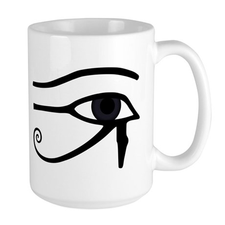 Right Eye Of Horus (Ra) Large Mug