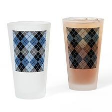 Argyle Design Drinking Glass