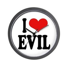 I Love Evil Wall Clock