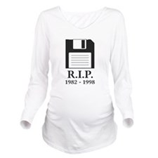 Rest in Peace RIP Floppy Disk Long Sleeve Maternit