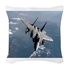 Fighter Jet Woven Throw Pillow
