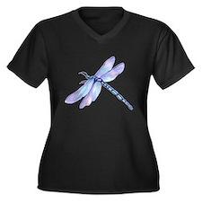 Unique Insect Women's Plus Size V-Neck Dark T-Shirt