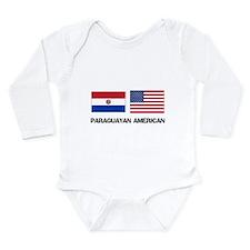 Cute Paraguayan map Long Sleeve Infant Bodysuit