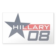 Hillary Clinton 08 Rectangle Decal
