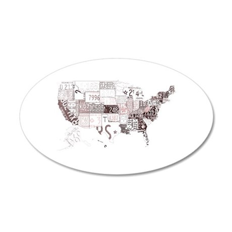 america license 35x21 Oval Wall Decal