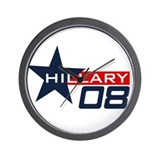Cute Hillary '08 Wall Clock